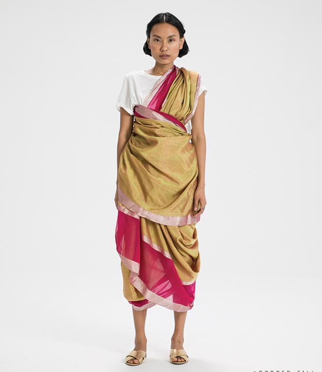 Agari sari drape from Maharashtra