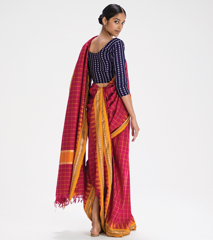 Gochi kattu sari drape from Andhra Pradesh