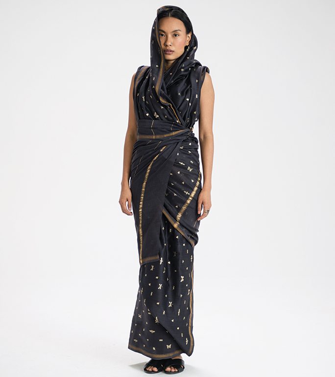 Munger sari drape from Bihar