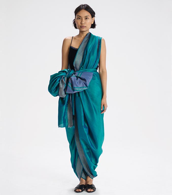 Bhootheyara sari drape from Karnataka