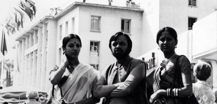 Shabana Azmi, Shyam Benegal and Smita Patil in Cannes, 1976