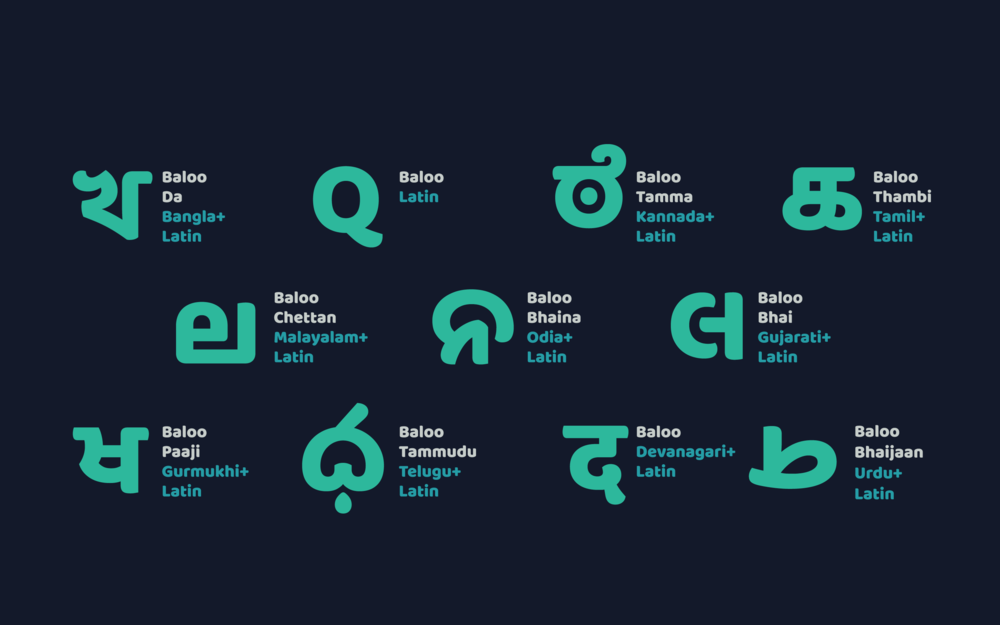 Baloo Typeface by Ek Type