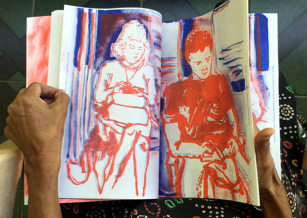 100 days of Travellers in Red zine by Akhila Krishnan