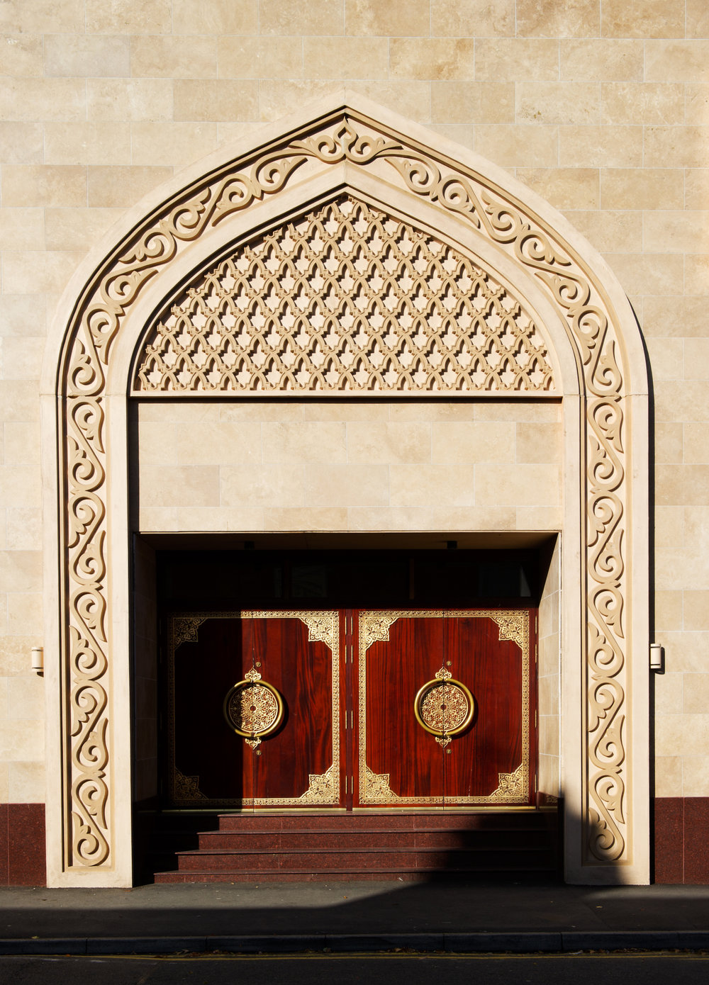 The arched doorway of the Jame Mosque, Leicester