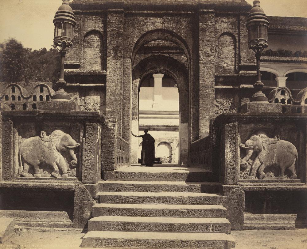 Entrance to Buddhist Temple, Kandy, (1880-90), Scowen & Co. Image courtesy of LACMA.