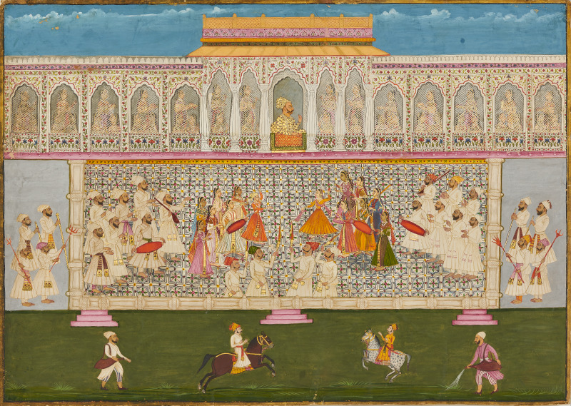 Women of the Zenana Watch a Dance Performance with Bakhat Singh (1736), Nagaur, Mehrangarh Museum Trust. Image courtesy of Neil Greentree/SAM.