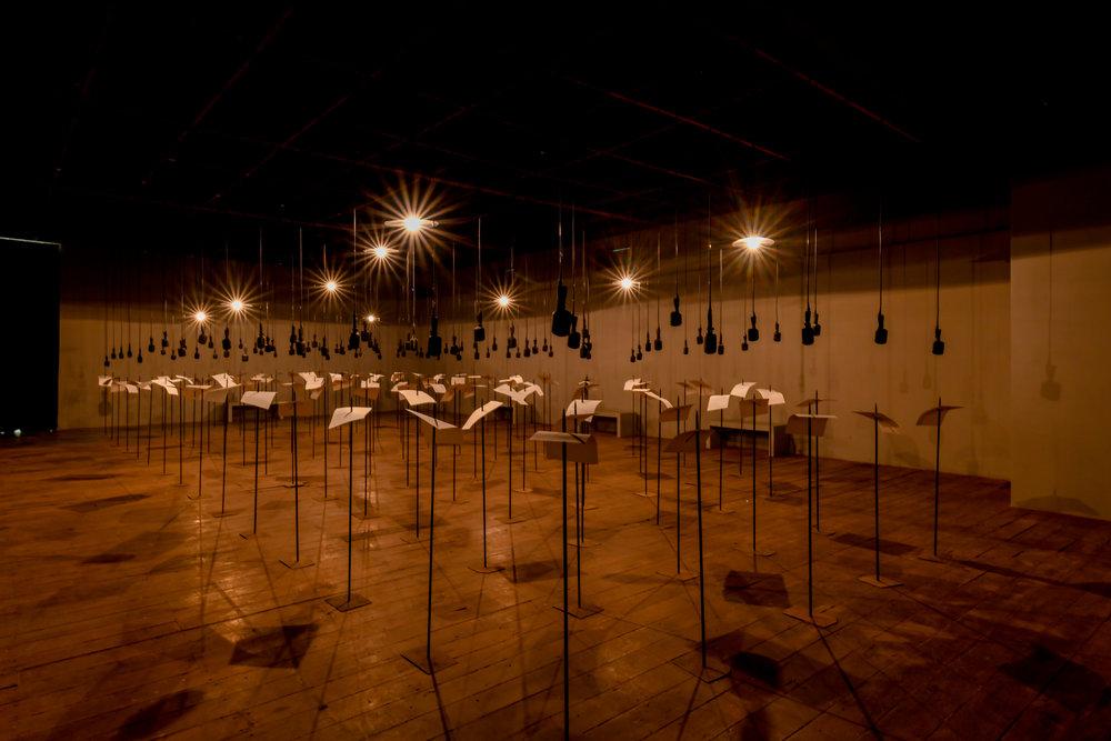 Shilpa Gupta, installation view at Kochi-Muziris Biennale 2018, courtesy of Kochi Biennale Foundation