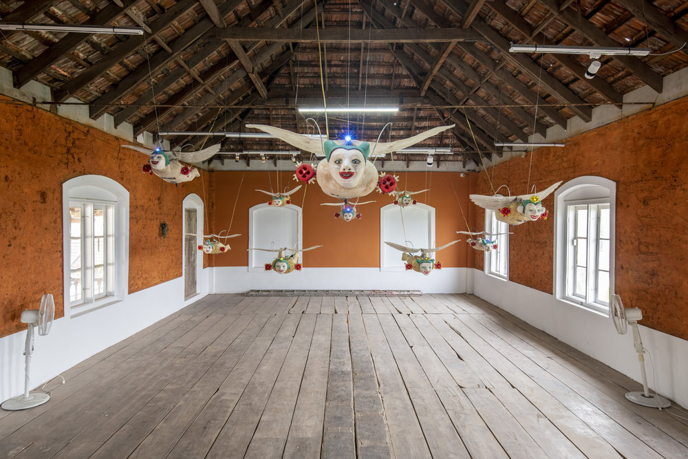 Heri Dono, installation view at Kochi-Muziris Biennale 2018, courtesy of Kochi Biennale Foundation