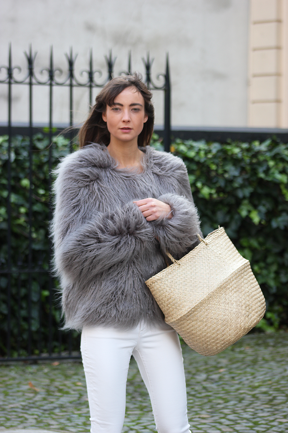 Unreal Fur coat, Zara top, AYR denim, Gucci loafers - Modedamour 7.png