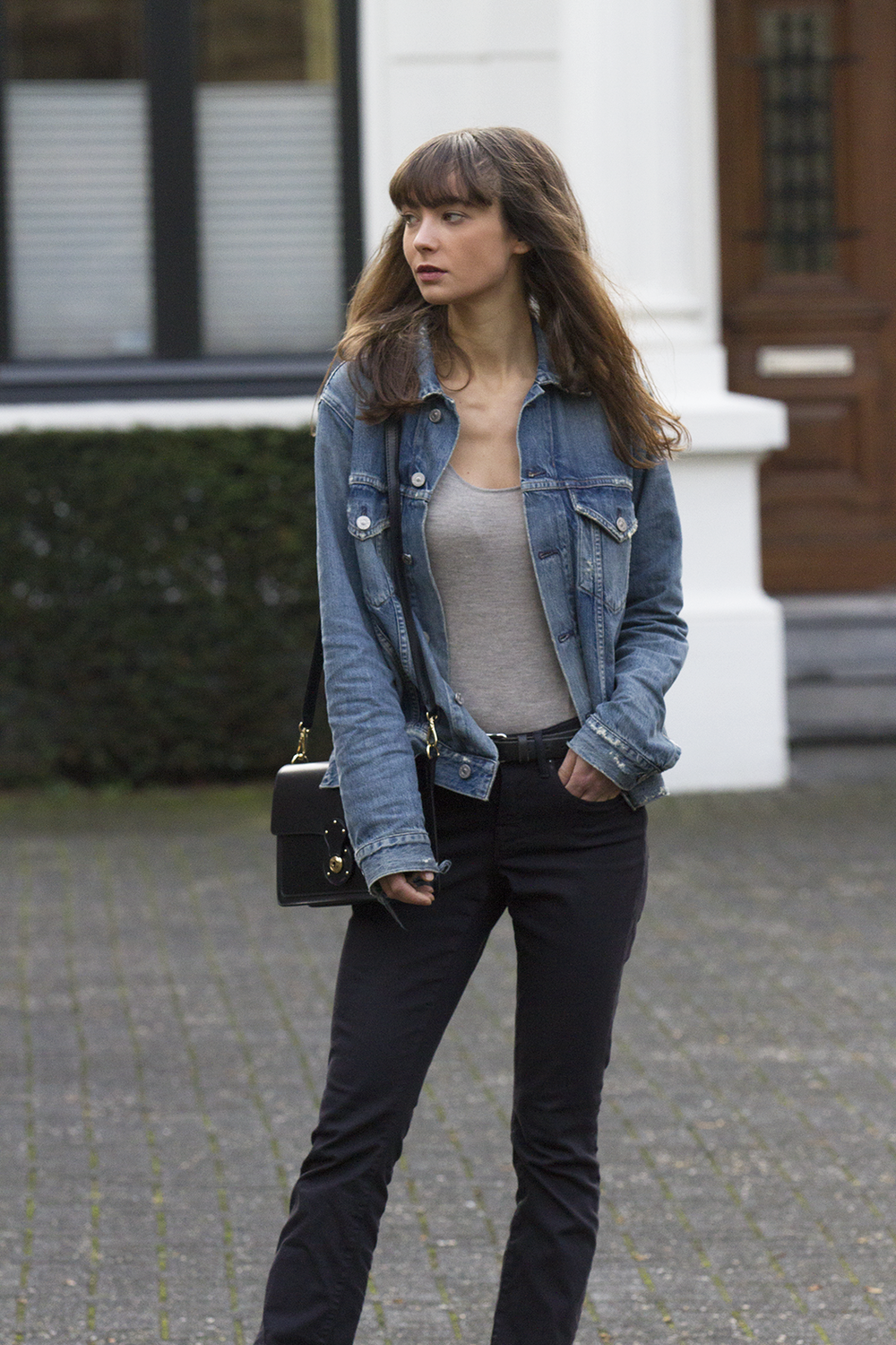 CoH denim jacket, Ralph Lauren top and bag, AYR denim, Manfield boots - Modedamour 7.png