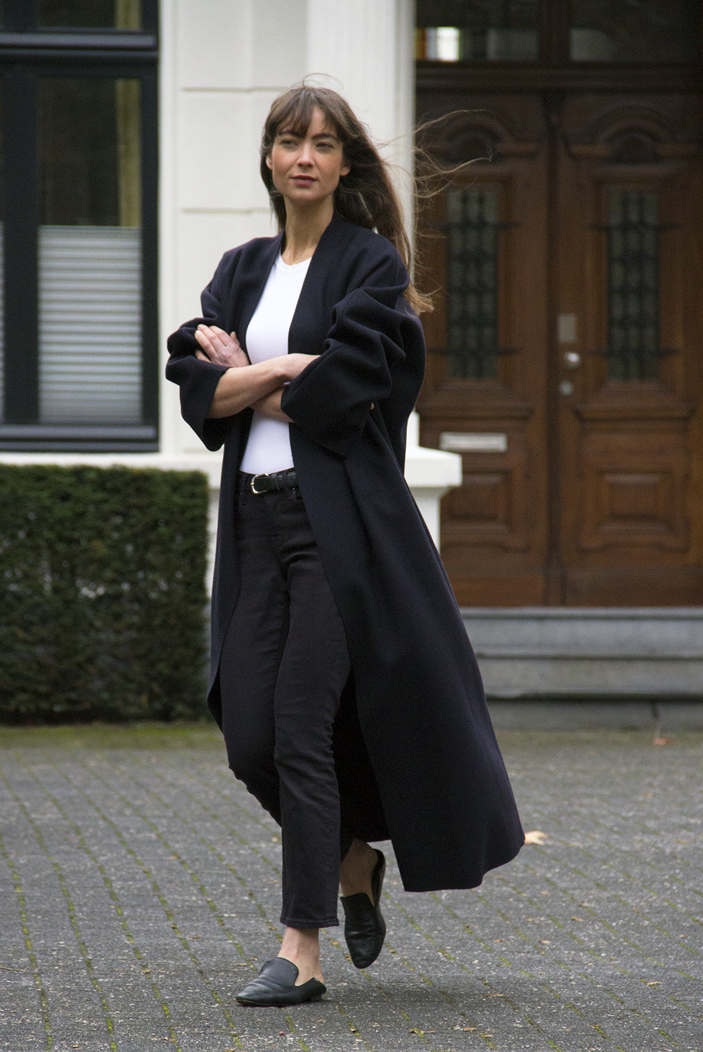 Mango coat, AYR denim, Massimo Dutti loafers - Modedamour.png