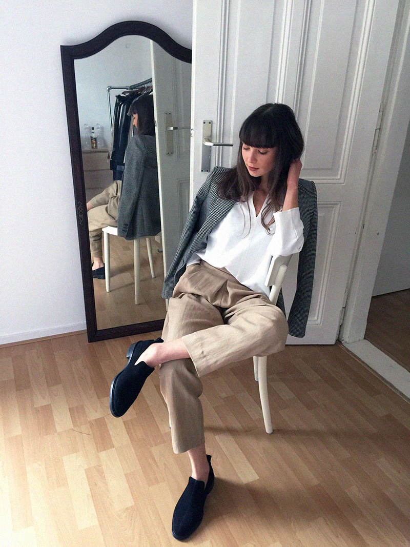 COS shirt and flats - Massimo Dutti trousers 6.png