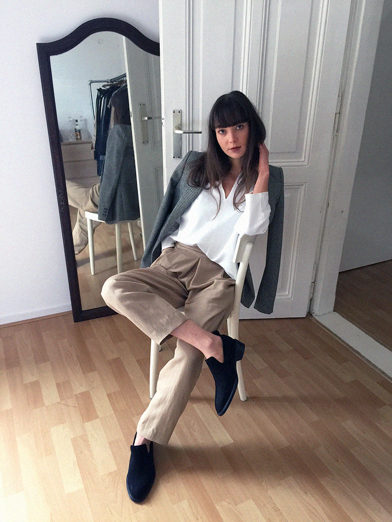 COS shirt and flats - Massimo Dutti trousers 9.png