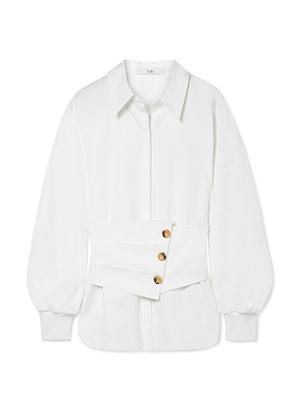 Tibi Layered cotton-poplin shirt.png