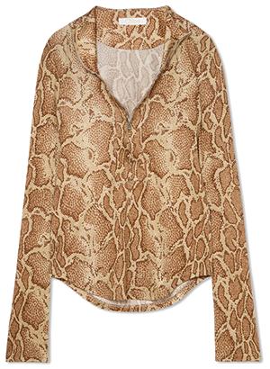 Chloe Snake-print satin-jersey top.png