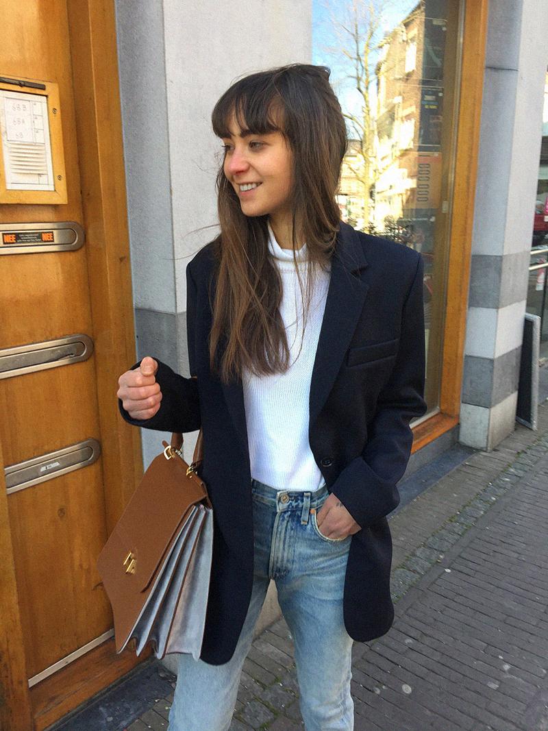 Zara blazer, Ralph Lauren turtleneck, CoH jeans, Cos loafer, Maison Heroine bag 3.png
