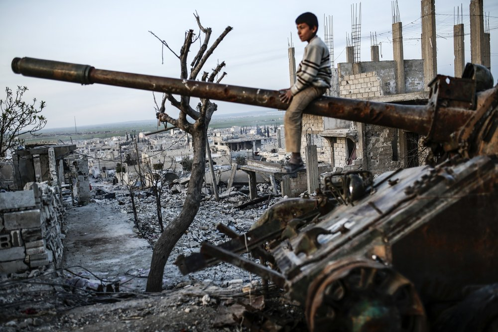 KOBANE, SYRIA, 27 MARCH 2015.   YASIN AKGUL/AFP/GETTY IMAGES