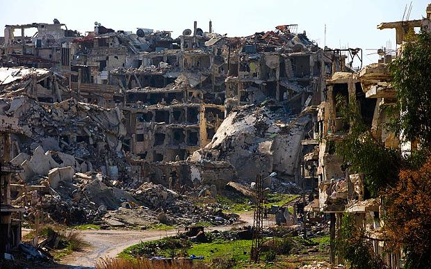 Homs, a city in ruins.  Associated Press