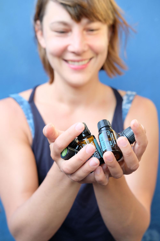 Doterra girl hands oils