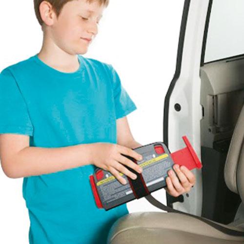 1. Nastavite širino primerno velkosti vašega otroka (kratka, srednja ali dolga).