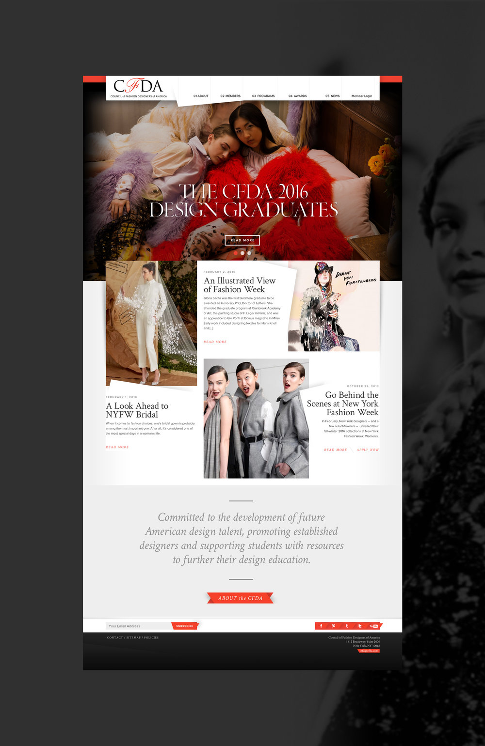 The CFDA Homepage