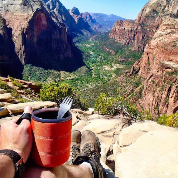 Keto backpacking in zion