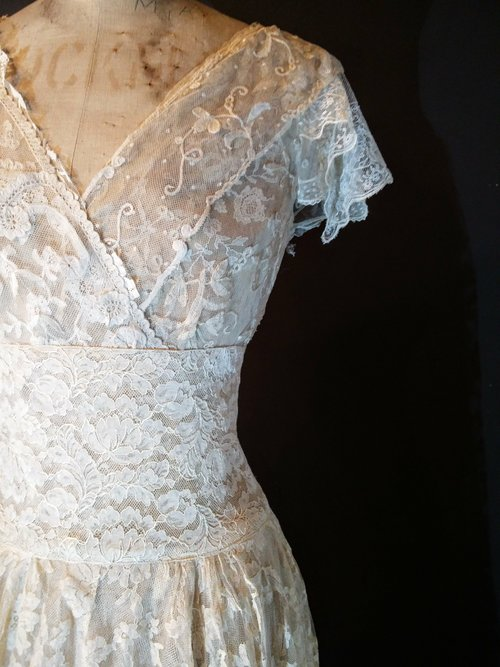 Full Lace Grace Kelly Wedding Dress — jane bourvis