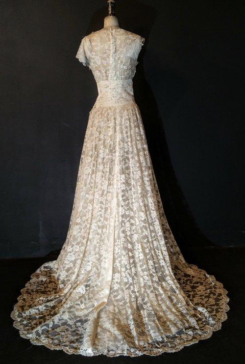 Full Lace Grace Kelly Wedding Dress — jane bourvis