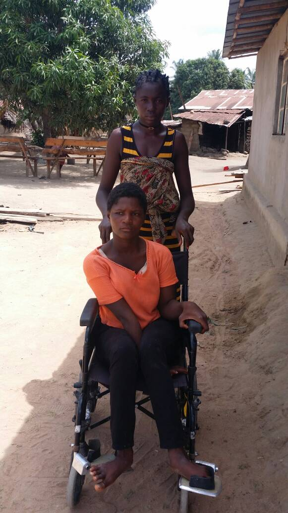 This is the wheelchair we was able to provide Sarah in June 2018.