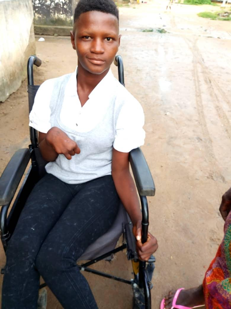 October 2018, Sarah is wearing a smile every day after being able to attend school.