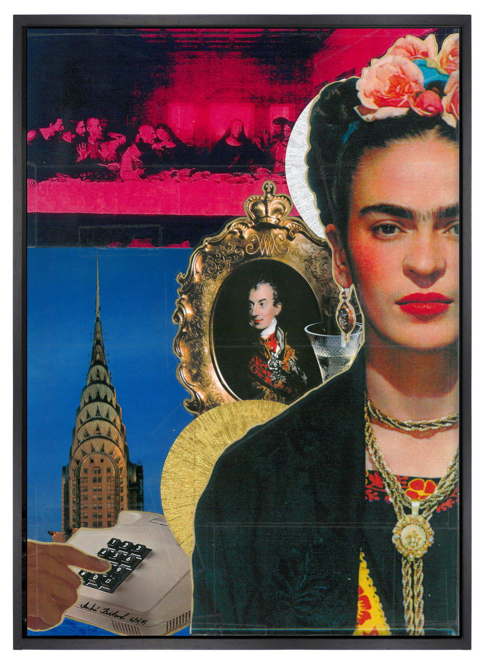 Andrè Boitard  Frida Kahlo 2014  Collage  Unique Piece  42cm x 30 cm