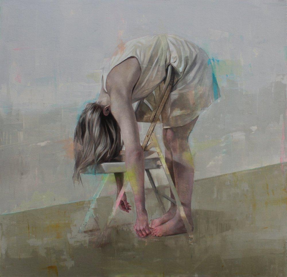 Johan Barrios Untitled, oil on canvas, 163x167cm, 2018