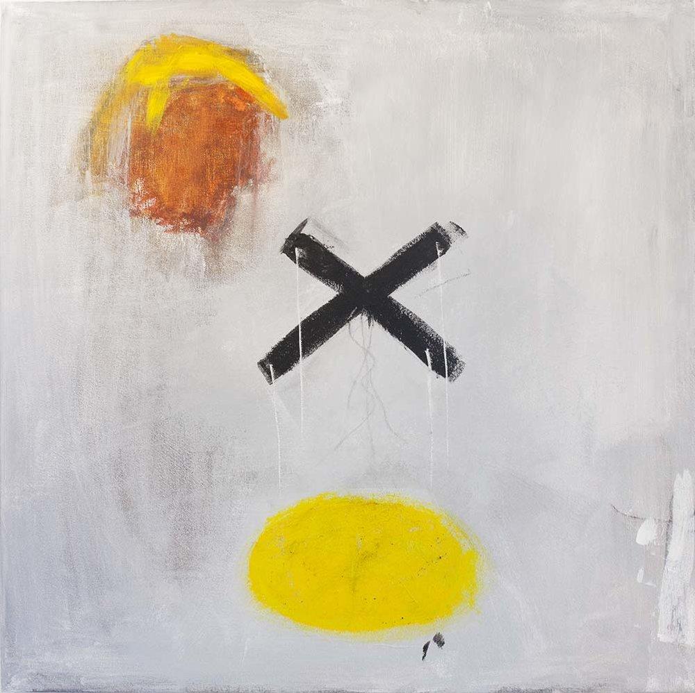 UNHOLY II, 2017, acrylic on canvas, 24 x 24 inches