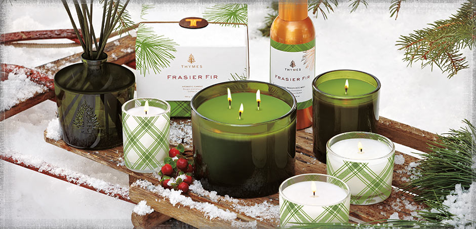 Frasier Fir - The aromatic snap of Siberian Fir needles, heartening cedarwood and earthy sandalwood combine to create a just-cut forest fragrance that evokes warmth and comfort.