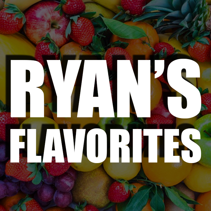 Ryan's Favorite Juice - Ryan likes real fruit juices with minimal savory additions. With a few exceptions, like Pink from ends game. If you choose this profile, you will receive a lot of Ryan's favorite fruity liquids!