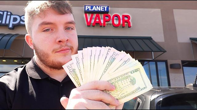 We spent $1000 in a vape shop we don't own. Video will be up at 2PM @tylan.boss
