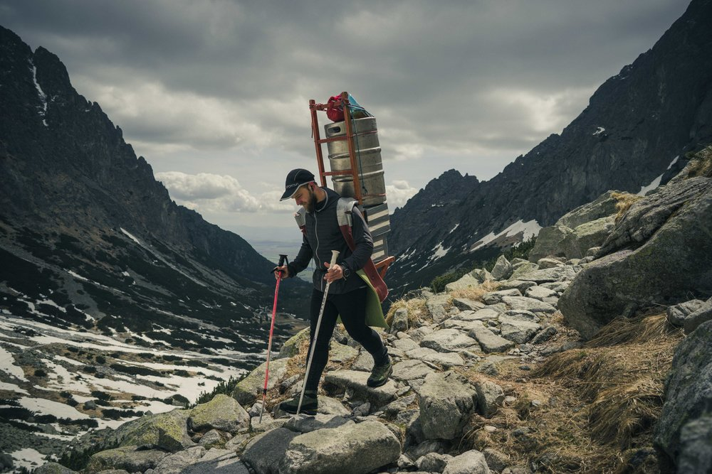 Sherpa carrying 80kg of load