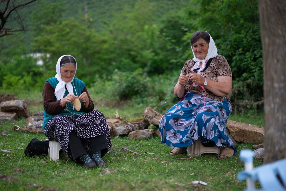 Keeping the Albanian knitting culture alive, Kukës County.