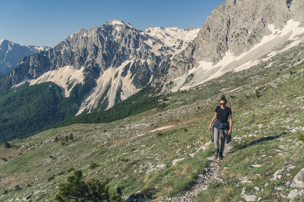 Great network of tracks, Valbona Valley
