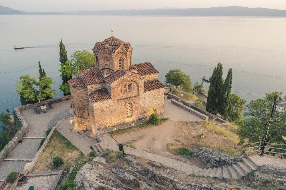 Famous sunset spot, St. John the Theologian. Ohrid