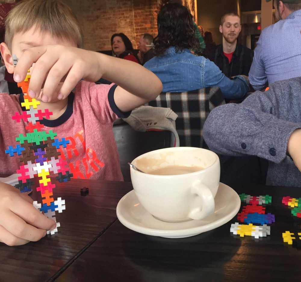 Building Sets - Definitely a Tupperware of random legos will suffice, but we've also had hours of success with ++, Brixies and magnetic building blocks. This is an ageless creative activity that is sure to keep even the older kids off their phones.