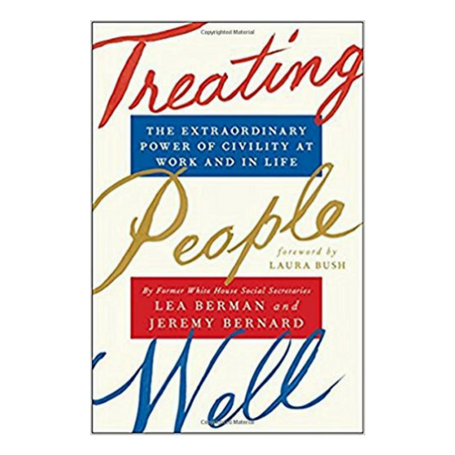 Treating People Well   - Lea and Jeremy come from completely different political affiliations and backgrounds; however their shared experiences as former social secretaries, one with the George W. Bush and the other with the Barack Obama administration, bring them into complete alignment on the best ways to treat people well.  It is uplifting to read their real life stories as they share how we can all benefit from facing day to day challenges by building friendships through warmth, reliability and honesty as well as honoring traditions with grace and style while refusing to assume the worst about those whose views differ from our own.