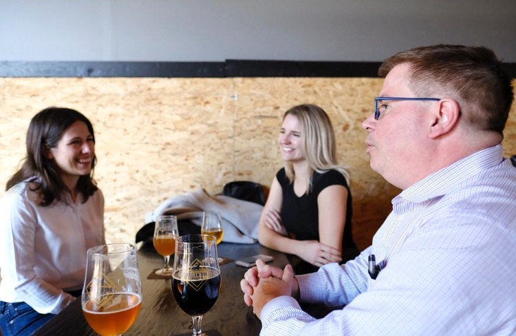 Victoria and Sydney (Port Moody and Co.) sit down with Mayor Mike Clay at Yellow Dog Brewery.