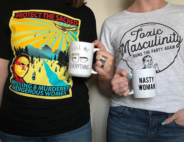 a few of our favorite things... 1. You know we love ourselves some @myfavoritemurder merch #ssdgm  2. Seriously go give @urbannativeera all your money. Kira loves them with her whole heart.  3. We're working on a way to sell Tell Me Everything mugs! We'll let you know as soon as we have them available.