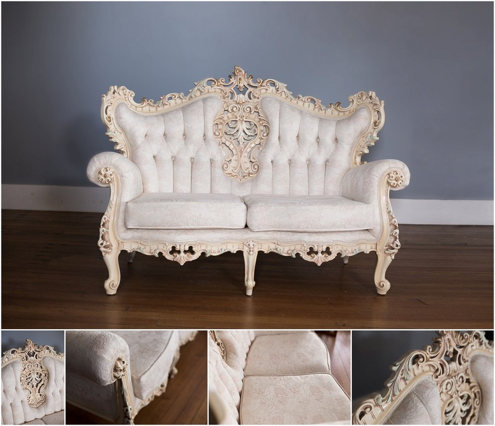 "Loveseat Rental Cost: $275  (free delivery within 50 Miles from Harrison, Ohio)         Dimensions: Length 61"" x Height 44"" x Depth 30"""