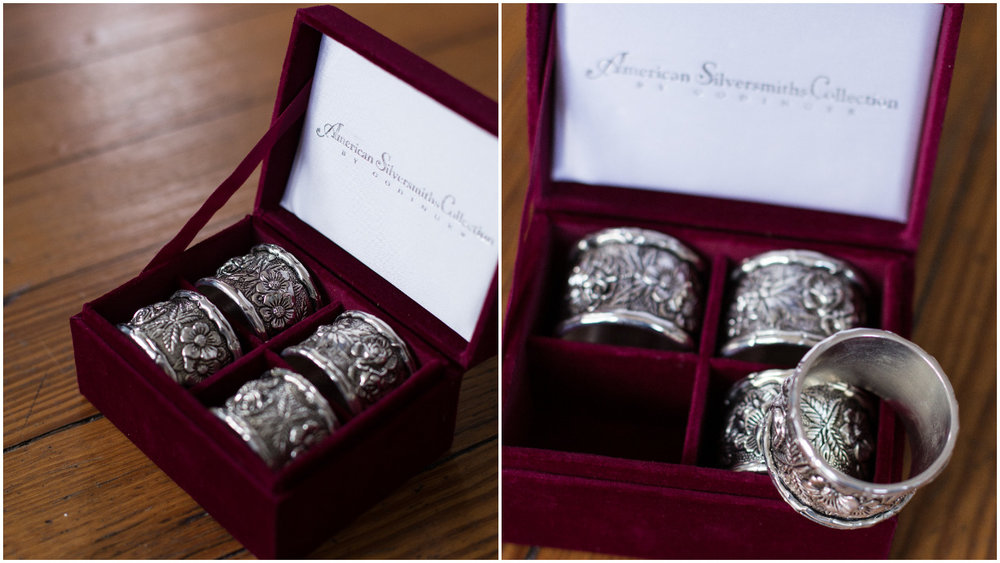 Silver Floral Napkin Rings Rental Cost: $2 per ring  (free delivery within 50 Miles from Harrison, Ohio)         Available: 150