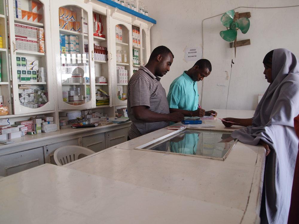Pharmacy at the Dr. Hawa Abdi General Hospital
