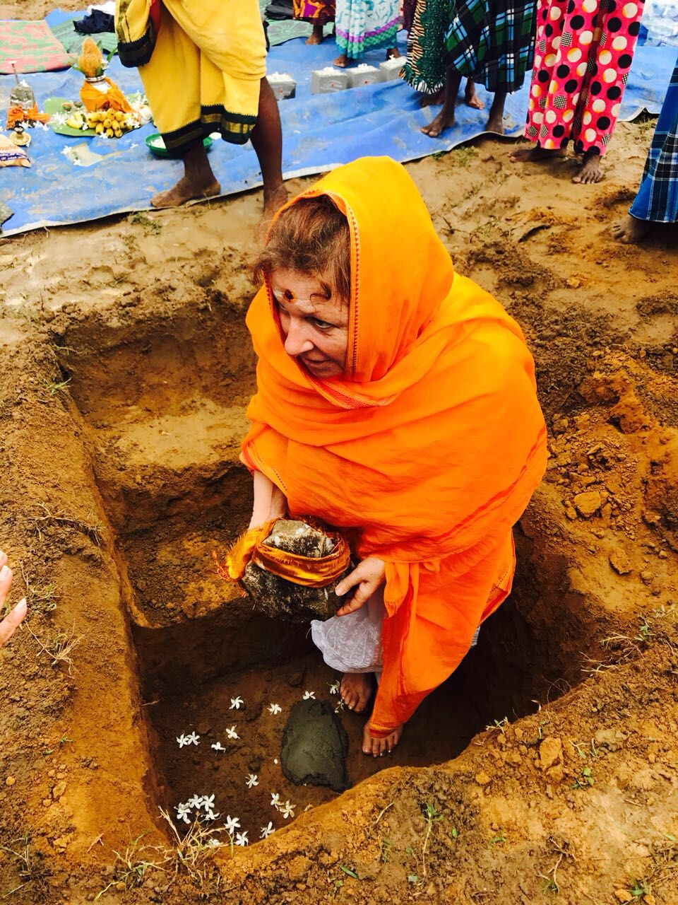 The first Lakshmi stone . . .