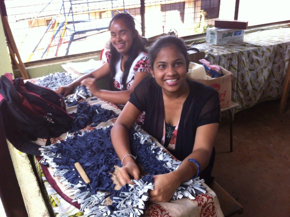 Girls handicrafts at children's home, Kandy