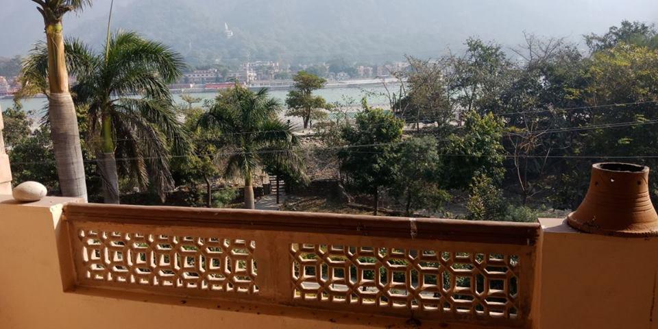 View of divine Ganga river from Ashrama balcony 💖